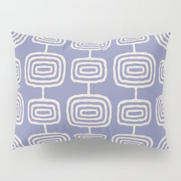 Mid Century Modern Atomic Rings Pattern Lavender Pillow Sham
