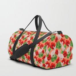 Tropic Sphynx Cat Vector Seamless Pattern Duffle Bag