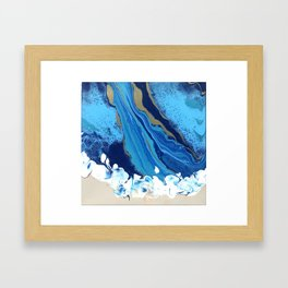 The Golden Channel Framed Art Print
