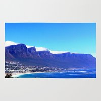 south africa Area & Throw Rugs featuring South Africa Impression 10 by Art-Motiva