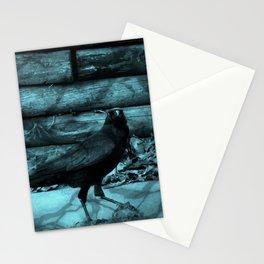 Blue Crow Shadows Stationery Cards
