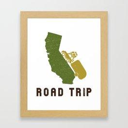 California Camping Road Trip Framed Art Print