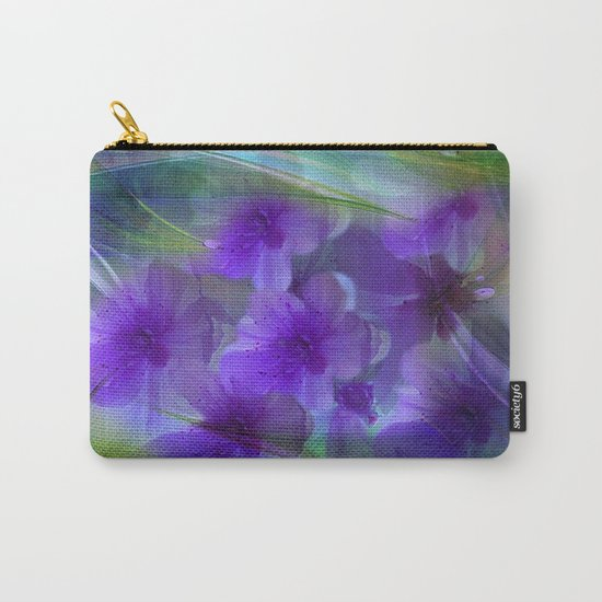 Violet Flower Garden Abstract Carry-All Pouch