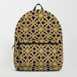 Gold and Black Islamic Edition Geometric Pattern Backpack