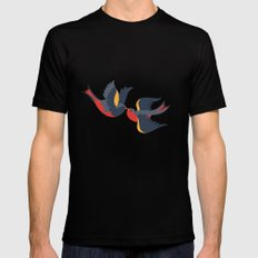 Sparrow songs MEDIUM Mens Fitted Tee Black