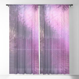 Glazed in Pink Sheer Curtain