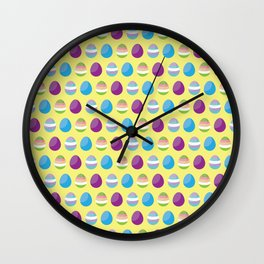 Easter Eggs - Pattern Wall Clock