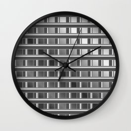 Optical illusion with metal bars Wall Clock