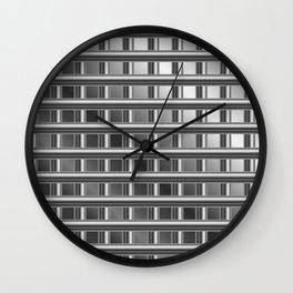 Optical illusion with metal bars Wall Clock