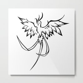 Phoenix mythical bird animal Metal Print