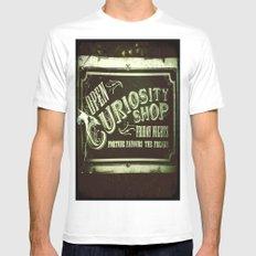 Night Curiosity Mens Fitted Tee White MEDIUM