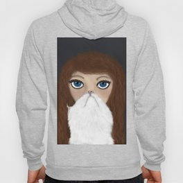 Curly Haired Crazy Cat Lady Hoody