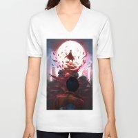 akira V-neck T-shirts featuring Akira by °thoOm