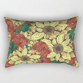 sunflowers&roses Rectangular Pillow