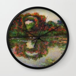 "Claude Monet ""Rose Arches at Giverny"" Wall Clock"