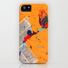 Letter Trail by Nadia J Art iPhone Case