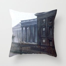 From the British Museum by Vilhelm Hammershøi - Norwegian Fine Art - Hammershoi Throw Pillow