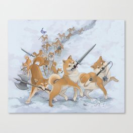 Cry Heckin' and Let Slip the Doges of War Canvas Print