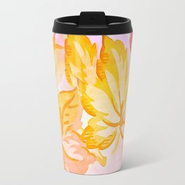 Soft Painterly Pastel Autumn Leaves Travel Mug