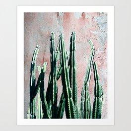 Green Cactos 5 Art Print