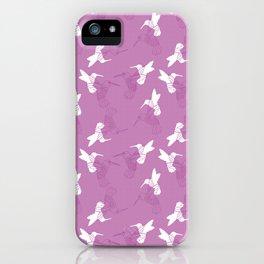 Humming Bird Pink iPhone Case