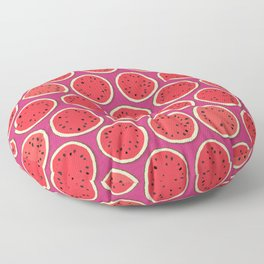 watermelon polka pink Floor Pillow