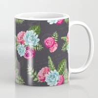 wwe Mugs featuring Flower Pattern by eARTh
