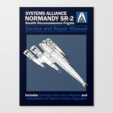Normandy SR-2 Systems Alliance Service and Repair Manual Canvas Print