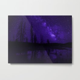 Milky Way Over Fire Hole Lake Metal Print
