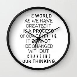 Einstein's quote Wall Clock