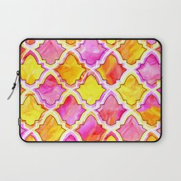 Marrakesh Inspired Moroccan in Sunset Colors Laptop Sleeve