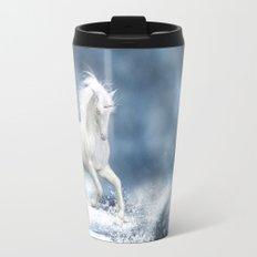 White Unicorn Travel Mug
