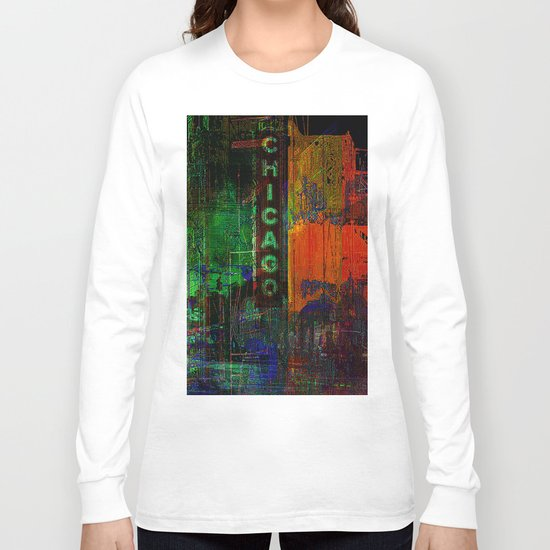 A night in Chicago Long Sleeve T-shirt