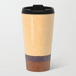 Simple Stripe Abstract with Burlap Pattern Metal Travel Mug