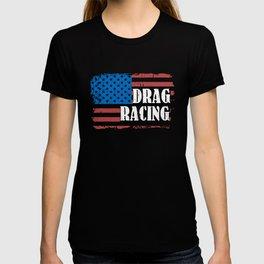 American Flag Drag Racing T-shirt