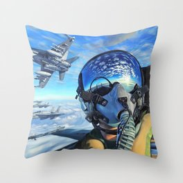 Spanish McDonnell Douglas F/A-18 Hornet Squadron Ultra HD Throw Pillow