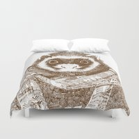 ferret Duvet Covers featuring Bad Weather Ferret by rich_hood