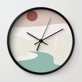 Enclosed landscape Wall Clock