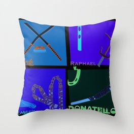 TMNT Weaponry  Throw Pillow