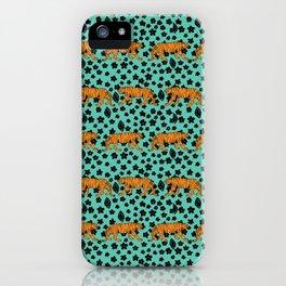 Teal Tiger iPhone Case