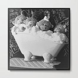 """Monkey """"Bath-time"""" Metal Print"""