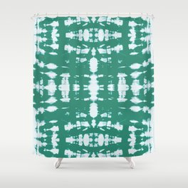 Kumo Jade Shibori Shower Curtain