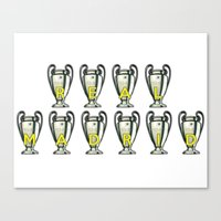 real madrid Canvas Prints featuring Real Madrid by Barbo's Art