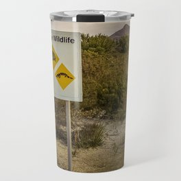 The Australian Roadtrip of Wildlife Road Signs Travel Mug
