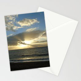 Sunset over Aber Stationery Cards