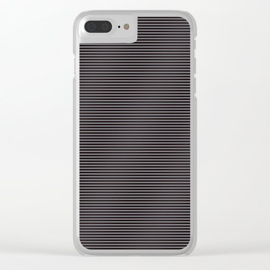Soft Parisian Stripes Clear iPhone Case