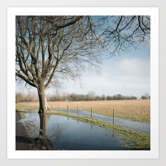 a cold afternoon... Art Print