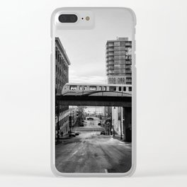 Morning Train BW Clear iPhone Case