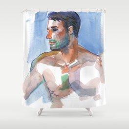 MATT, Semi-Nude Male by Frank-Joseph Shower Curtain