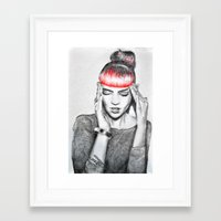 grimes Framed Art Prints featuring Grimes by Eric Magnussen